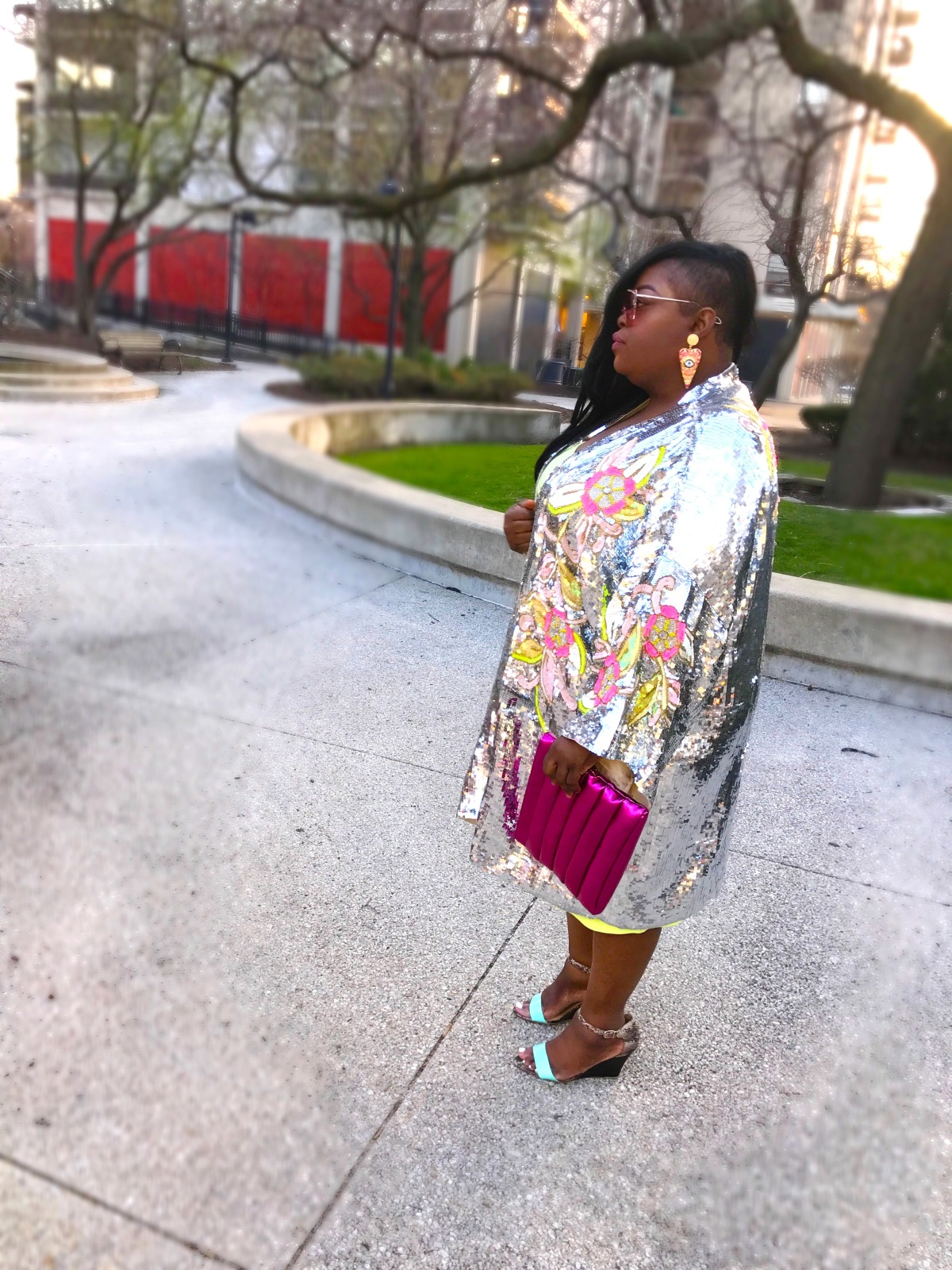 ASOS sequin kimono 1